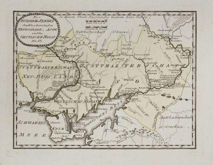 Antique Maps, von Reilly, Ukraine, 1791: Des Russischen Reiches Statthalterschaften Neurussland, Asow und das östliche Nogay