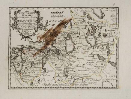 Antique Maps, von Reilly, Baltic, Estonia, Latvia, 1791: Des Russischen Reiches Statthalterschaften Riga oder das Herzogthum Liefland Reval oder das Herzogthum Esthland, S....