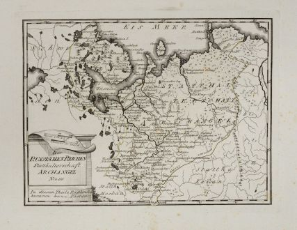 Antique Maps, von Reilly, Russia, 1791: Des russischen Reiches Statthalterschaft Archangel