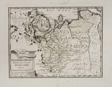 Antike Landkarten, von Reilly, Russland, 1791: Des russischen Reiches Statthalterschaft Archangel