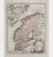 General Karte von den Konigreichen Schweden, Dänemark u. Norwegen mit Grönland und den Inseln Island und Faeröer