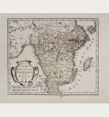 Spezial Karte von des Königreichs Schweden südlichen Provinzen