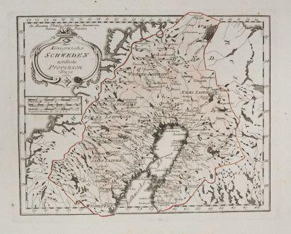 Antike Landkarten, von Reilly, Skandinavien, Finnland, Schweden, 1791: Des Königreichs Schweden nördliche Provinzen