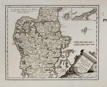 Antike Landkarten, von Reilly, Skandinavien, Dänemark, Jütland, 1791: Des Königreichs Daenemark Halbinsel Jütland