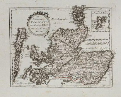 Antike Landkarten, von Reilly, Britische Inseln, Schottland, 1791: Des Königreichs Scotland nördlicher Theil oder Das Hochland
