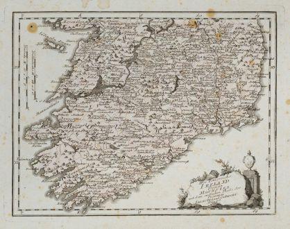 Antike Landkarten, von Reilly, Britische Inseln, Irland, 1791: Des Königreichs Ireland Provinz Mounster mit dem nördlichen Theile der Provinzen Leinster und Conaught