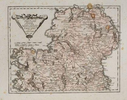 Antique Maps, von Reilly, British Isles, Ireland, 1791: Des Königreichs Ireland Provinz Ulster mit dem nördlichen Theile der Provinzen Leinster und Connaught