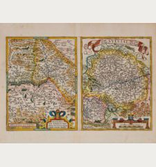 Basiliensis Territorii Descriptio Nova, Auctore Sebastiano Munstero / Circulus sive Liga Sueviae, vulgo Schwabische Kraiss