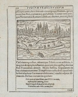 Antique Maps, Saur, Germany, Rhineland-Palatinate, Speyer, 1595: Spira, Speyer