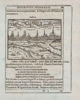 Antike Landkarten, Saur, Deutschland, Schleswig-Holstein, Lübeck, Lüneburg: Lubeca, Lvbeck [Lübeck], Luneburgum, Lüneburg