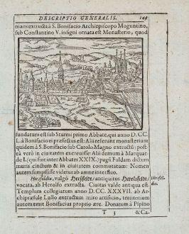 Antike Landkarten, Saur, Deutschland, Hessen, Fulda, 1595: [Fulda]