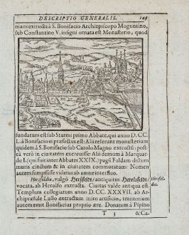 Antique Maps, Saur, Germany, Hesse, Fulda, 1595: [Fulda]