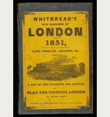 Whitbread's New Hand-Map of London for 1851 - Whitbread's New Plan of London drawn from authentic surveys
