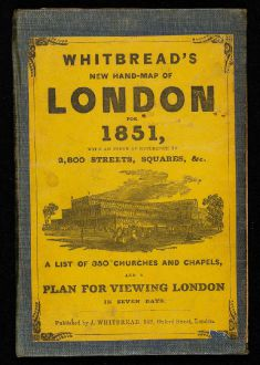 Antike Landkarten, Whitbread, Britische Inseln, England, London, 1851: Whitbread's New Hand-Map of London for 1851 - Whitbread's New Plan of London drawn from authentic surveys