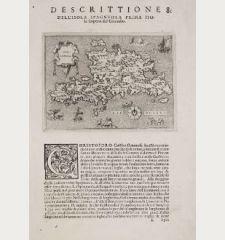 Spagnuola - Spagnvola - Descrittione dell' Isola Spagnuola prima Isola scoperta dal Colombo