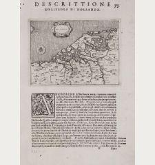 Hollanda - Descrittione dell'Isola di Hollanda.