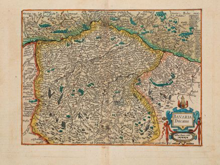 Antique Maps, Quad, Germany, Bavaria, Bayern, 1600: Bavaria Ducatus