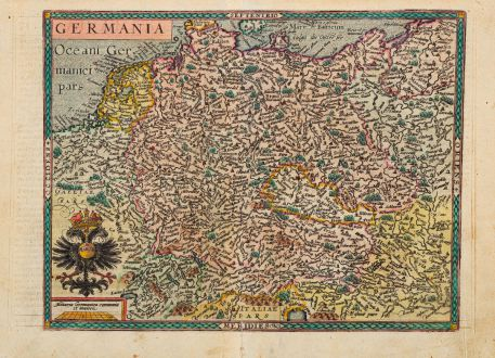 Antique Maps, Quad, Germany, 1600: Germania