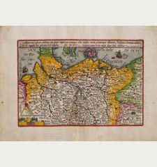 Saxonum regionis quatenus eius gentis imperium nomenque olim patebat, recens germanaque delineatio