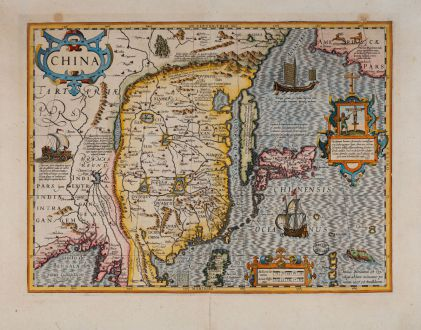 Antique Maps, Hondius, China, 1623: China