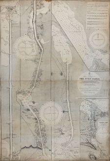 Antike Landkarten, British Admiralty, Nordafrika, Ägypten, Suezkanal, Sueskanal: The Suez Canal