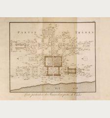 Carte particuliere des Ruines d'une partie de Thebes.