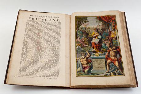 Atlases, Schotanus van Sterringa, Benelux, Friesland, 1718: Uitbeelding der heerlijkheit Friesland, zoo in 't algemeen, als in haare... door Dr. Bern. Schotanus a Sterringa......