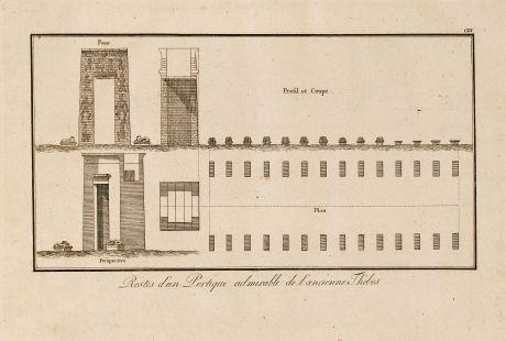 Books, Norden, Egypt, Thebes, Pyramides, 1795: Restes d'un Portique admirable de l'anicienne Thebes