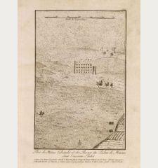 Plan des Statues Colossales et des Ruines du Palais de Memnon dans l'ancienne Thebes