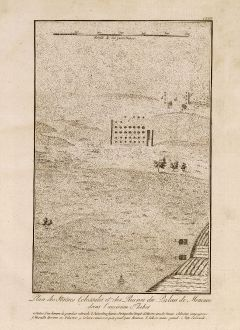 Antique Maps, Norden, Statues of Amenhotep III, Colossi of Memnon, Egypt: Plan des Statues Colossales et des Ruines du Palais de Memnon dans l'ancienne Thebes