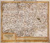 Holzschnitt-Landkarte von Transsilvanien, Siebenbürgen. Gedruckt bei Sebastian Petri im Jahre 1588 in Basel.