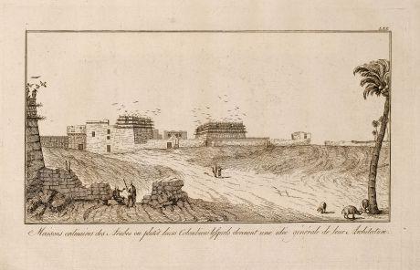 Books, Norden, Egypt, Arab Architecture, 1795: Maisons ordinaires des Arabes ou plutôt leurs Colombiers lesquels donnent une idée générale de leur Architecture.