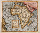 Original antike Landkarte von Afrika. Gedruckt bei Sebastian Petri im Jahre 1598 in Basel.
