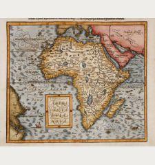Affricae tabula nova / Africa, Lybia, Morenlandt, mit allen Königreichen so jetziger Zeit darumb