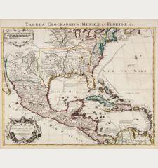 Carte Du Mexique et de la Floride des Terres Angloises et des Isles Antilles du Cours et des Environs de la Riviere...