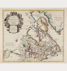 Carte du Canada ou de la Nouvelle France et des Decouvertes qui y ont ete Faites Dressee sur Plusieurs Observations ... par...