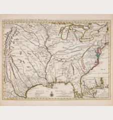 Carte De La Louisiane et du Cours du Mississipi