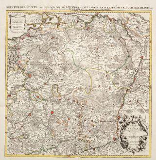 Antike Landkarten, de l Isle, Belgien, 1720: Carte du Brabant