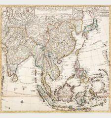 Carte Des Indes et de la Chine Dressee sur plusieurs Relations particulieres Rectifees par quelques Observations Par...