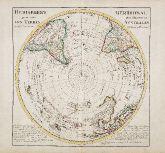 Altkolorierte Landkarte der südlichen Hemisphäre mit Australien. Gedruckt bei Covens & Mortier um 1730 in Amsterdam.