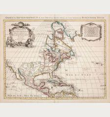 L'Amerique Septentrionale Dressee sur les Observations de Mrs. de l'Academie Royale des Sciences... Par G. de l'Isle...