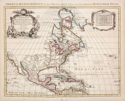 Antike Landkarten, de l Isle, Nordamerika, 1730: L'Amerique Septentrionale Dressee sur les Observations de Mrs. de l'Academie Royale des Sciences... Par G. de l'Isle...