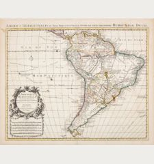 L'Amerique Meridionale Dressee sur les Observations de Mrs. de l'Academie Royale des Sciences... Par G. de l'Isle...