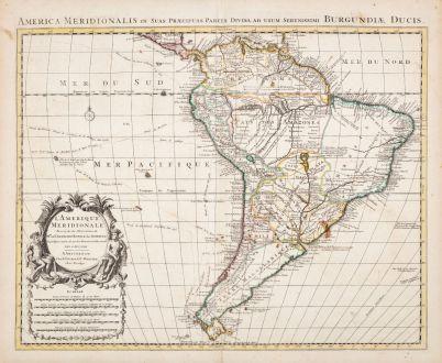 Antike Landkarten, de l Isle, Südamerika, 1730: L'Amerique Meridionale Dressee sur les Observations de Mrs. de l'Academie Royale des Sciences... Par G. de l'Isle...