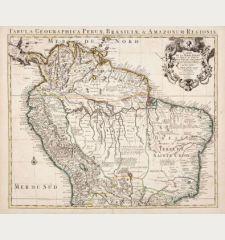 Carte de la Terre Ferme, du Perou, du Bresil, et du Pays des Amazones...