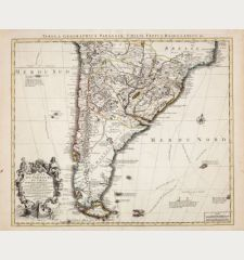 Carte du Paraguay du Chili du Detroit de Magellan...