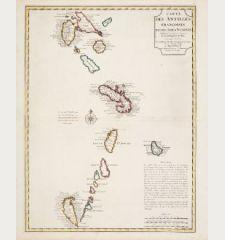 Carte des Antilles Francoises et des Isles Voisines...