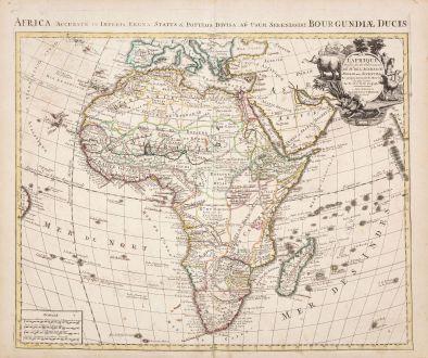 Antique Maps, de l Isle, Africa Continent, 1730: L'Afrique Dressee sur les Observations de M. de l'Academie Royale des Sciences...
