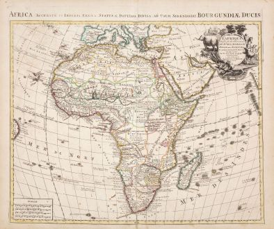 Antike Landkarten, de l Isle, Afrika Kontinent, 1730: L'Afrique Dressee sur les Observations de M. de l'Academie Royale des Sciences...