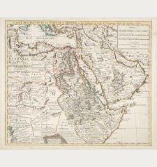 Carte de l'Egypte de la Nubie de l'Abissinie